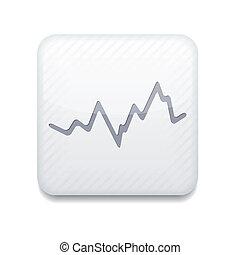 eps10, app, vecteur, blanc, icon., stockage