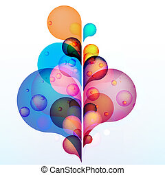 eps10, coloré, résumé, circles., fond, +