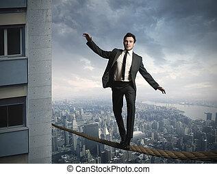 equilibrist, businessma