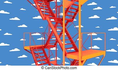 escalier, 01, boucle