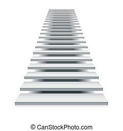 escalier, blanc