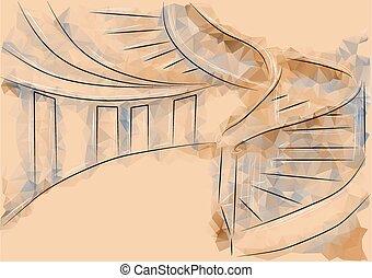 escalier, bureau
