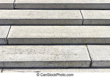 escalier, fond, béton