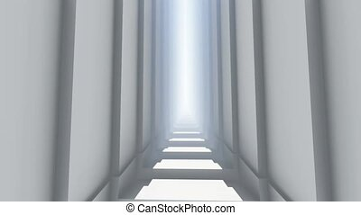 escalier, long, lumière ciel, -, promenade