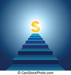 escalier, succès financier