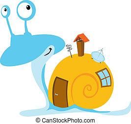 escargot, mobil, maison