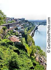 escarpement, douro, rivière