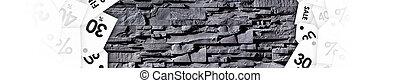 escompte, étiquettes, gris, stonewall, texture