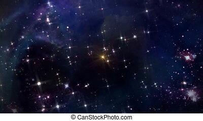 espace, étoile jaune