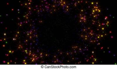 espace, étoiles, mouche