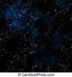 espace, ciel, profond, étoiles, nuit