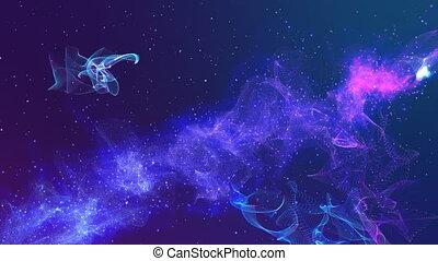 espace, couleur, résumé, bleu, violet, particulier