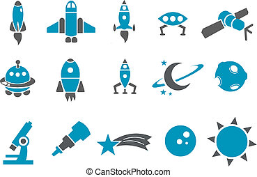 espace, ensemble, icône