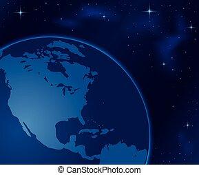 espace, -, illustration, planète, vecteur, la terre