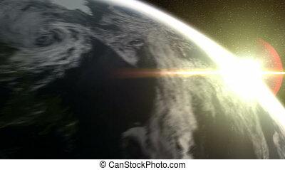 espace, la terre, dehors, bourdonner