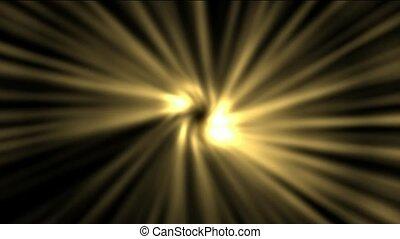 espace, rayon, rotation, doré, lumière
