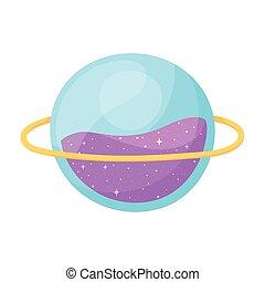 espace, style, dessin animé, astromomie, planète, galaxie
