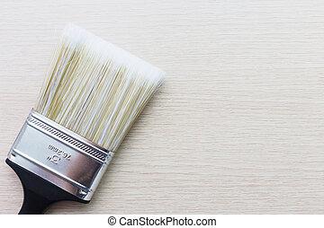 espace, texte, peinture, bois, brosse, fond