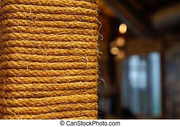 espace, vendange, peu profond, o, corde, arrière-plan., profondeur, closeup, copie