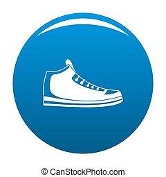 espadrilles, icône, bleu
