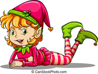 espiègle, mignon, elfe