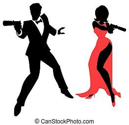 espion, couple
