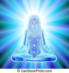 esprit, méditation, éclaircissement, -