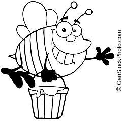 esquissé, abeille