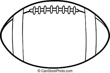 esquissé, football, américain, balle