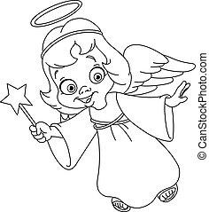esquissé, noël, ange