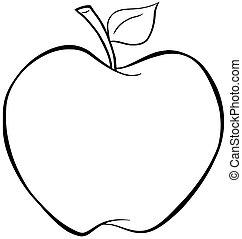 esquissé, pomme
