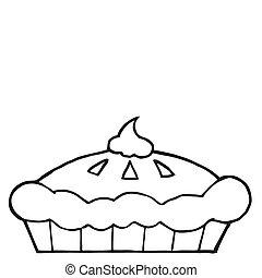 esquissé, thanksgiving, tarte