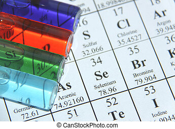 essai, série, chemistry., tube