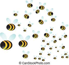 essaim, abeille