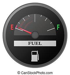 essence, voiture, mètre, tiret, jauge, planche, carburant