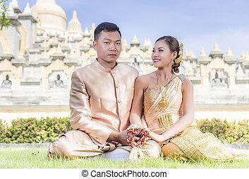 est asiatique, sud, couple