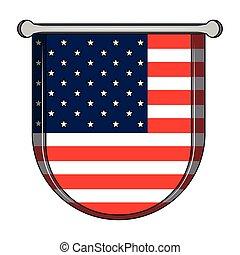 etats, bouclier, drapeau, uni