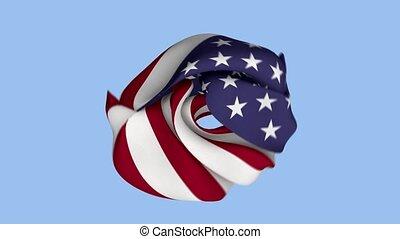 etats, chiffonné, amérique, uni, drapeau, tissu, intro., usa