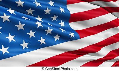 etats, drapeau ondulant, uni, americ