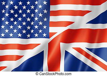etats, drapeau, uni, britannique