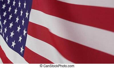 etats, drapeau, uni, en mouvement, tissu