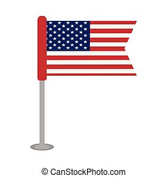 etats, drapeau, uni, isolé