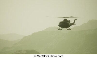 etats, mouvement, vietnam, lent, hélicoptère, uni, militaire