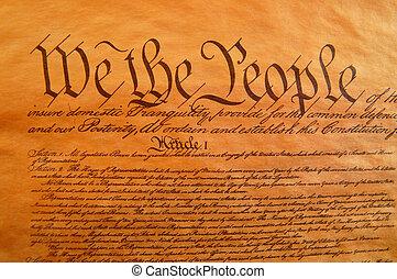 etats, uni, constitution