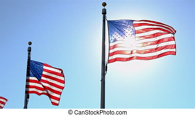 etats, uni, drapeaux