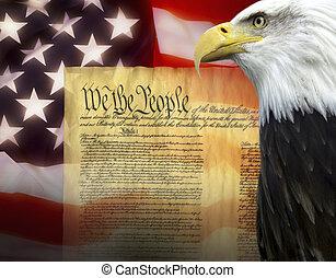 etats, -, uni, patriotisme, amérique