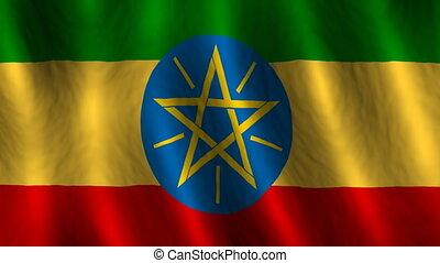 ethiopie, faire boucle, fond, drapeau