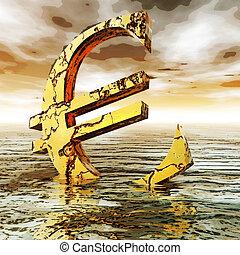 euro, crysis, illustration, numérique