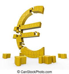europe, argent, signe, spectacles, investissement, euro