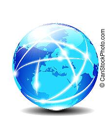 europe, communication, global, planète
